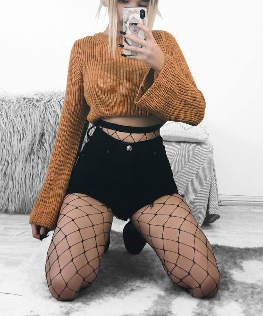Wonderful Fishnet Comfortable Outfits For High School