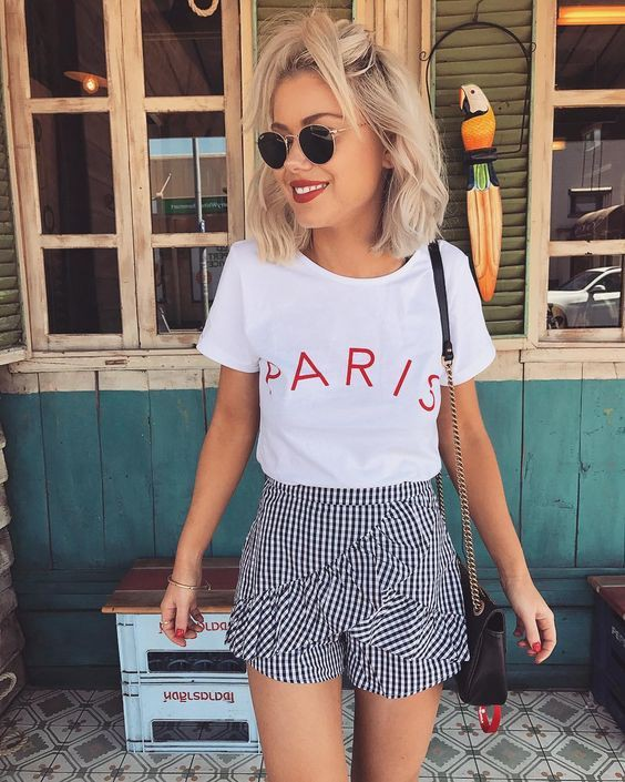 Tendencia Short De Moda 2019 Casual Wear Casual Outfit Ideas For 2020 Casual Outfits Casual Wear Tube Top