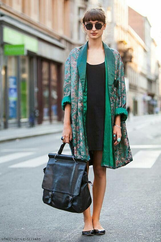 Clothing to see silk kimono outfit, Little black dress