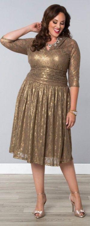 Special occasion plus size elegant dress
