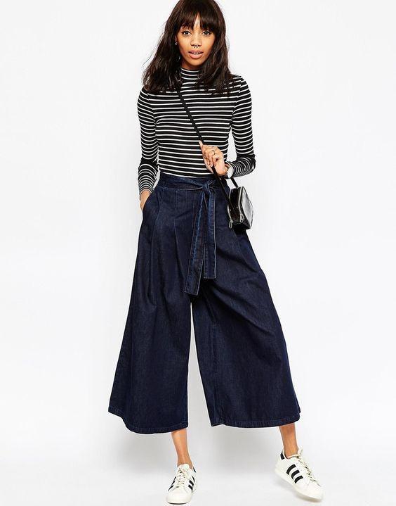 Fashionable Flare Palazzo Pants For Teens ASOS Denim FW 2018/1…