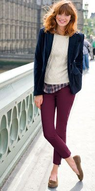 Cute Wine Colored Pants Outfits Ideas For Job Interveiw