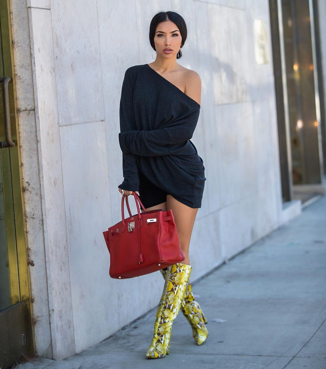 yellow colour outfit with dress, outfit designs, street fashion