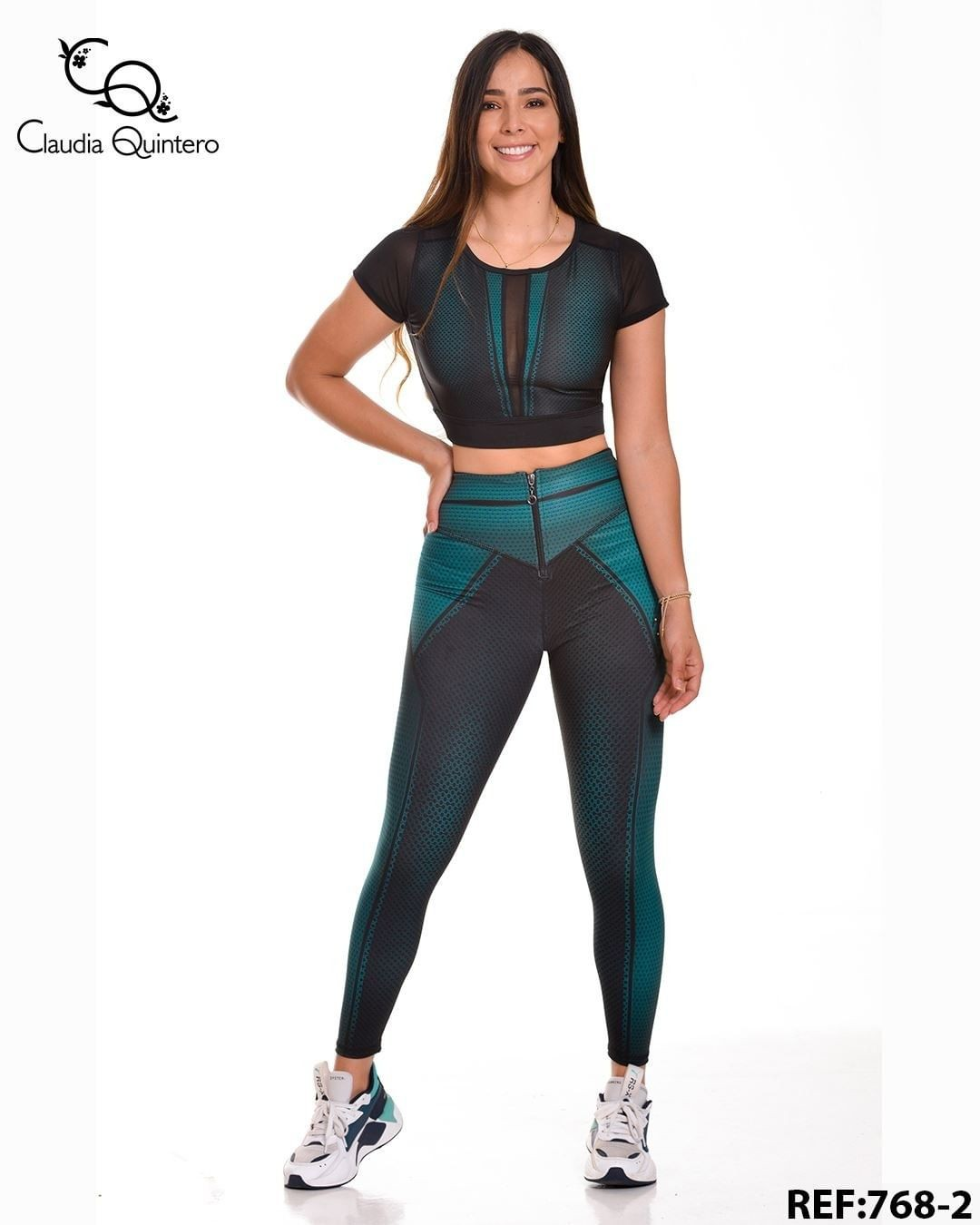 Electric blue and turquoise sportswear, leggings, tights