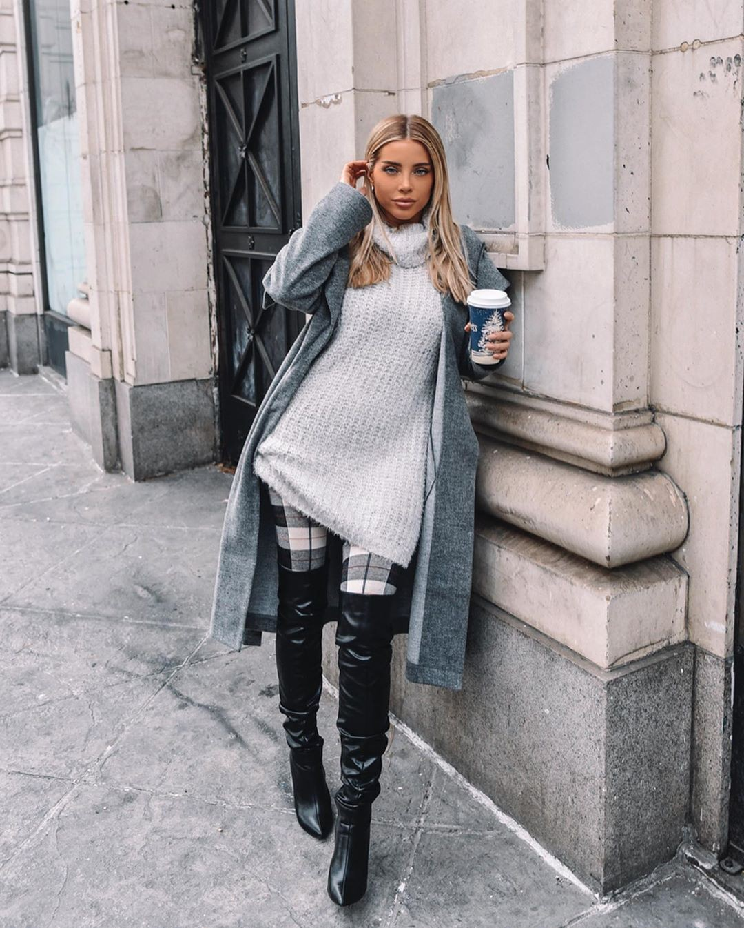 Jamie Stone knee-high boot, coat matching outfit, cute girls photos