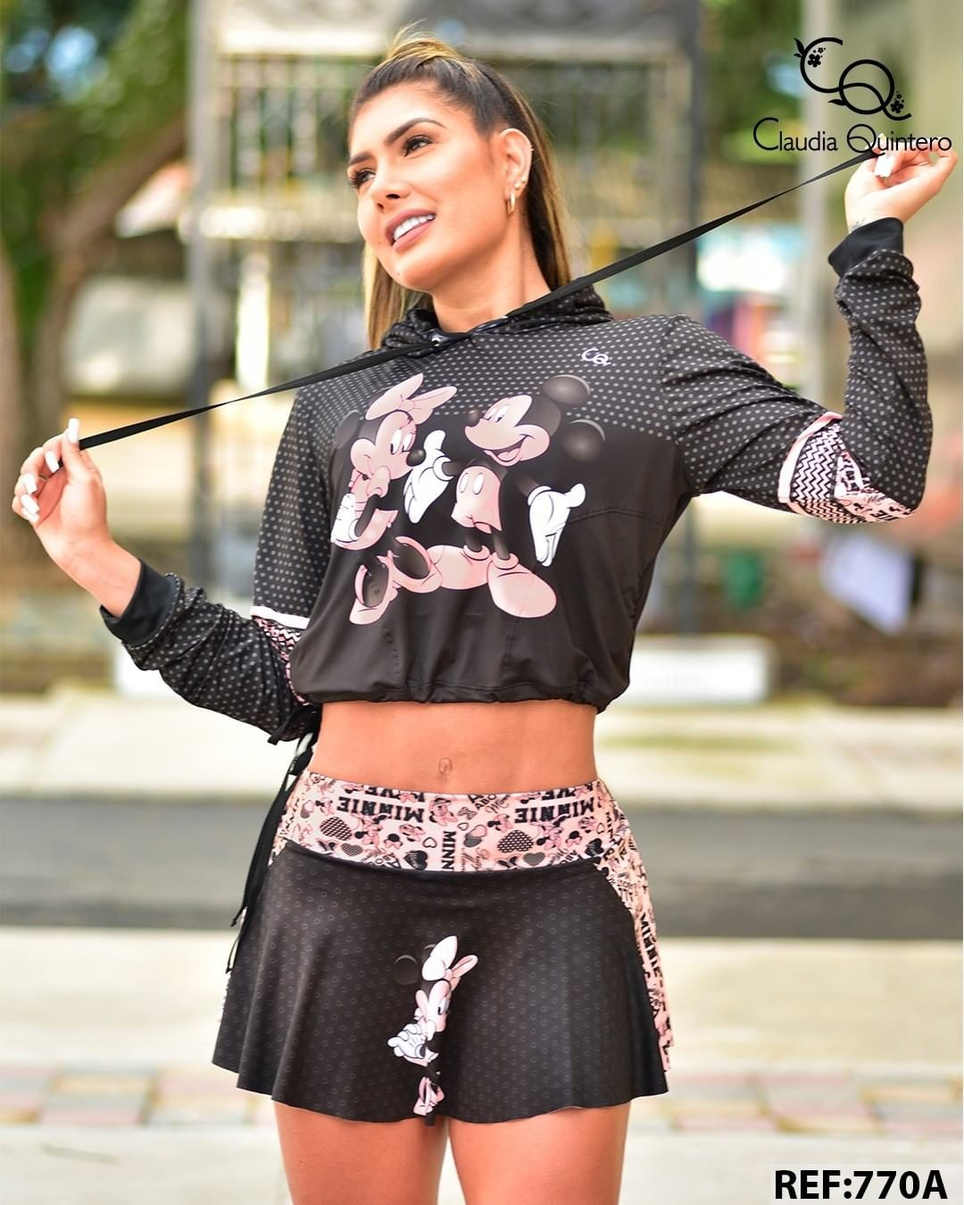pink outfits for girls with crop top, shorts, Outerwear