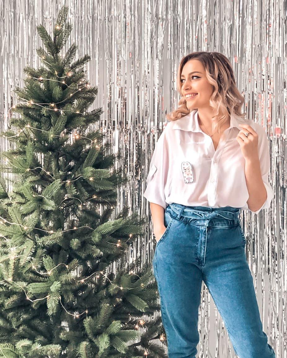 Aleksandra Glance denim, jeans colour combination, colorado spruce