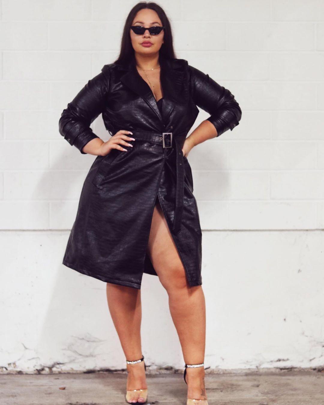 Plus Size dress little black dress, leather, coat colour outfit