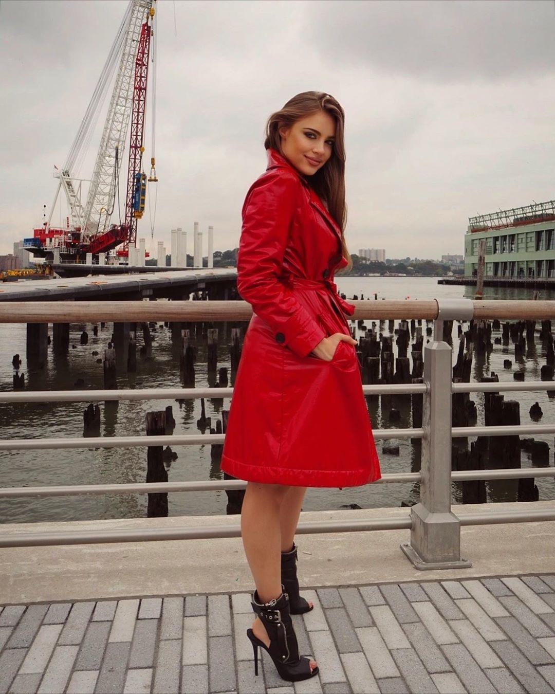 Xenia Tchoumitcheva dress trench coat, coat cute outfit ideas