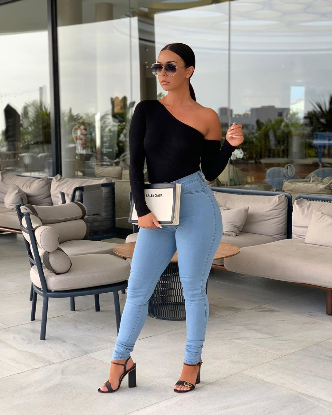 white dresses ideas with trousers, jeans, hot legs