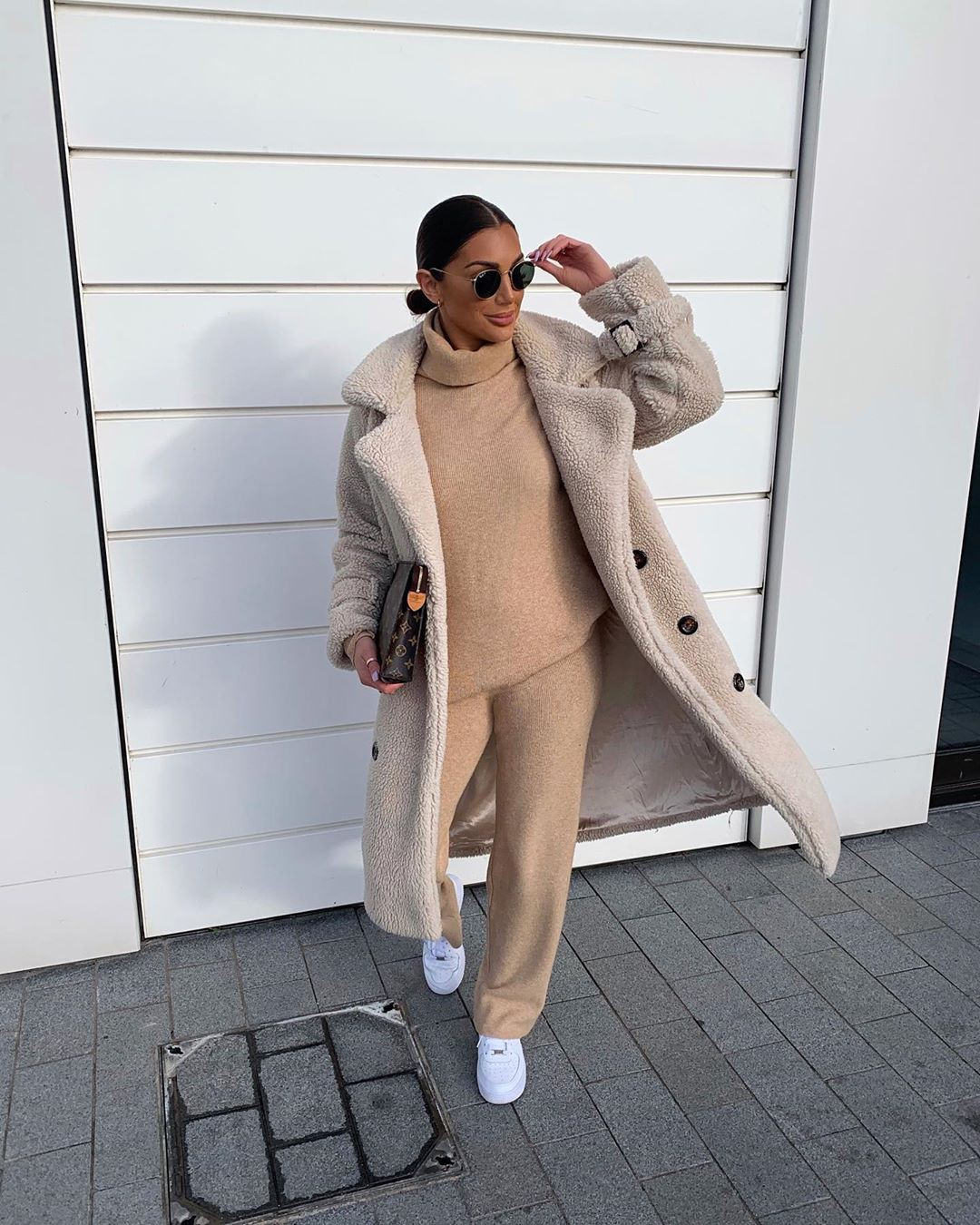 beige matching ideas for girls with trench coat, overcoat, coat