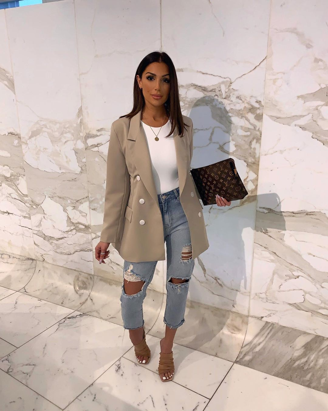 white colour outfit, you must try with trench coat, blazer, jeans