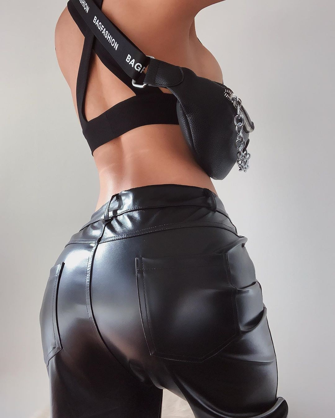black dress for girls with leather latex clothing, leggings, leather