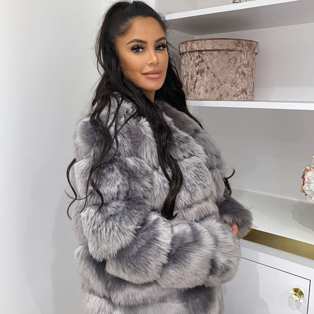 silver style outfit with fur clothing, coat, fur