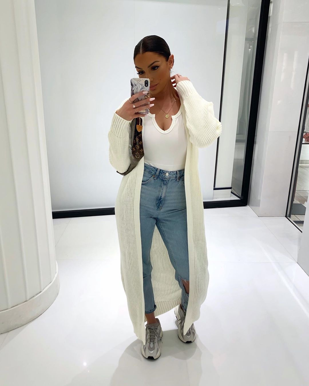 white colour outfit, you must try with trousers, denim, jeans