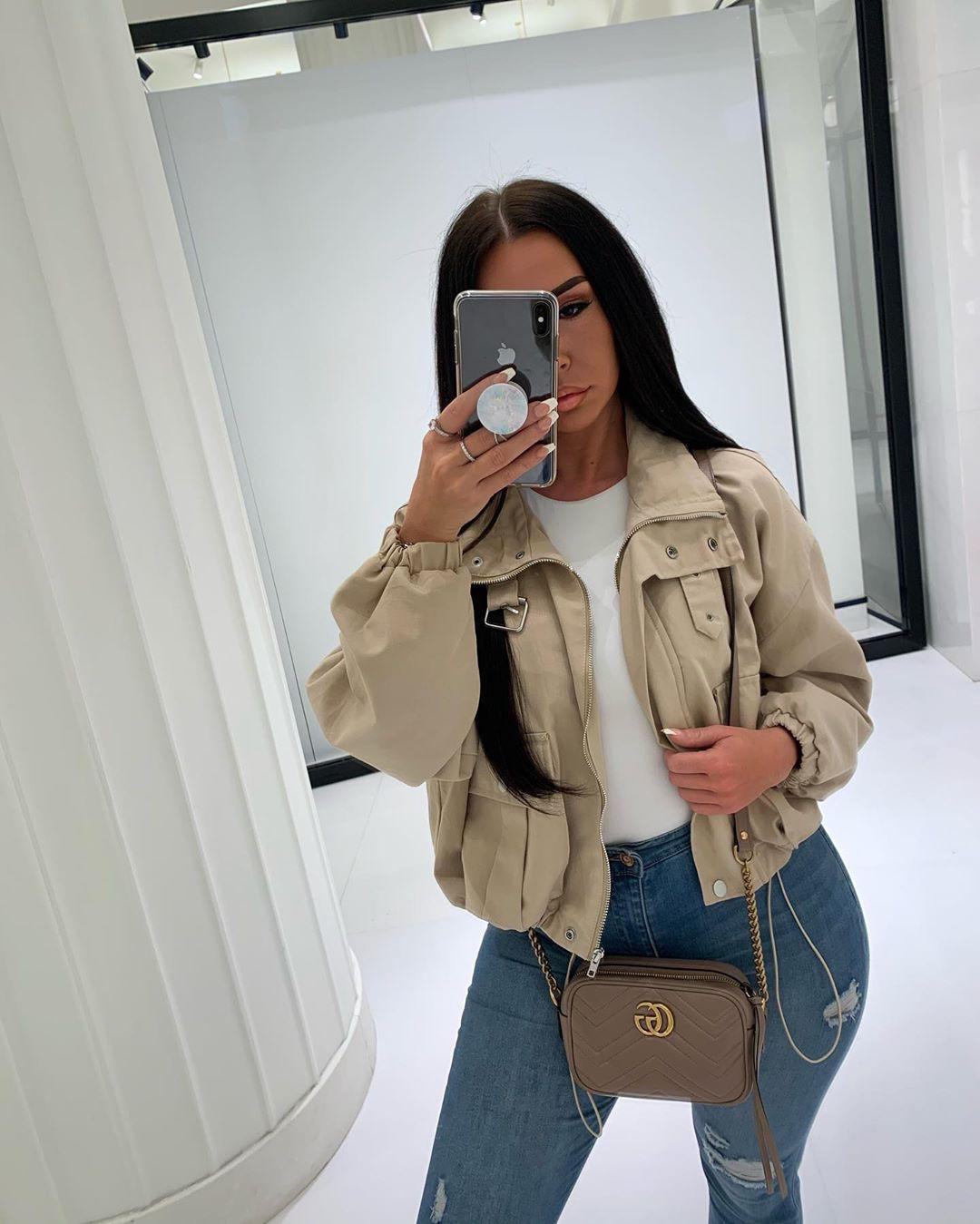 Beige and khaki trench coat, jeans, coat