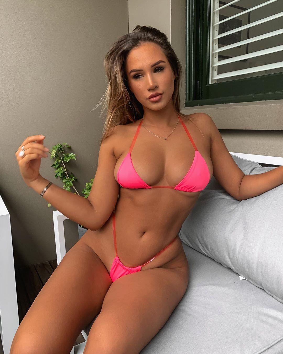 pink undergarment, lingerie, bikini