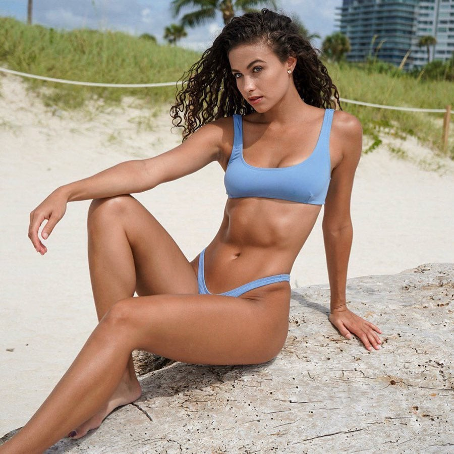 Cute Nina Matos With 6 Pack Abs, Fit Girl