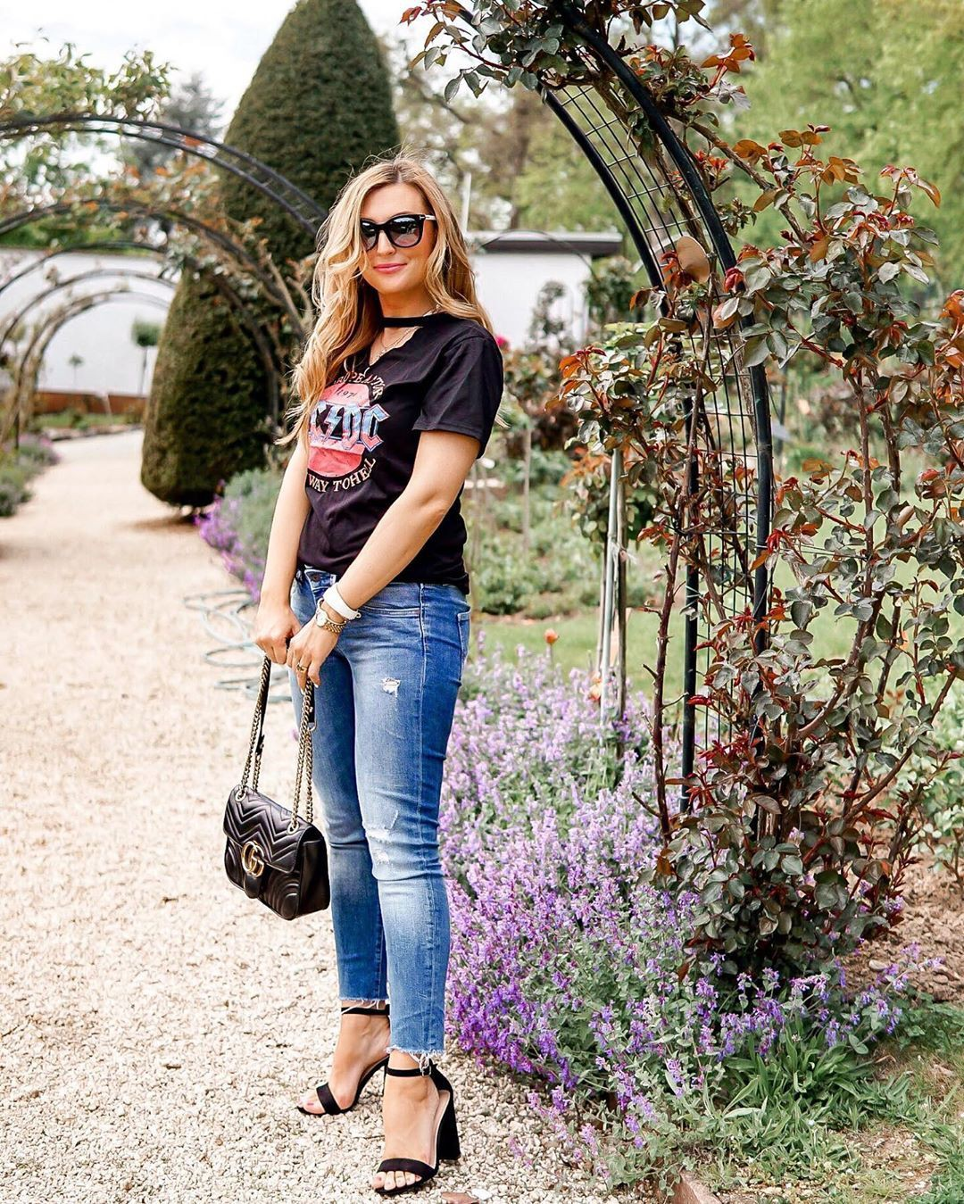 Purple and pink outfit ideas with denim, jeans