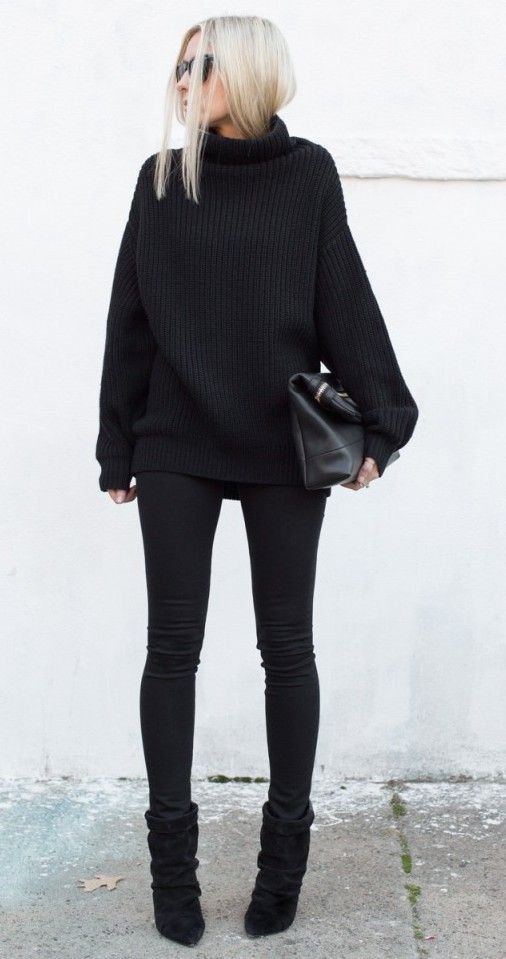 Cute collections cute black outfits slim fit pants