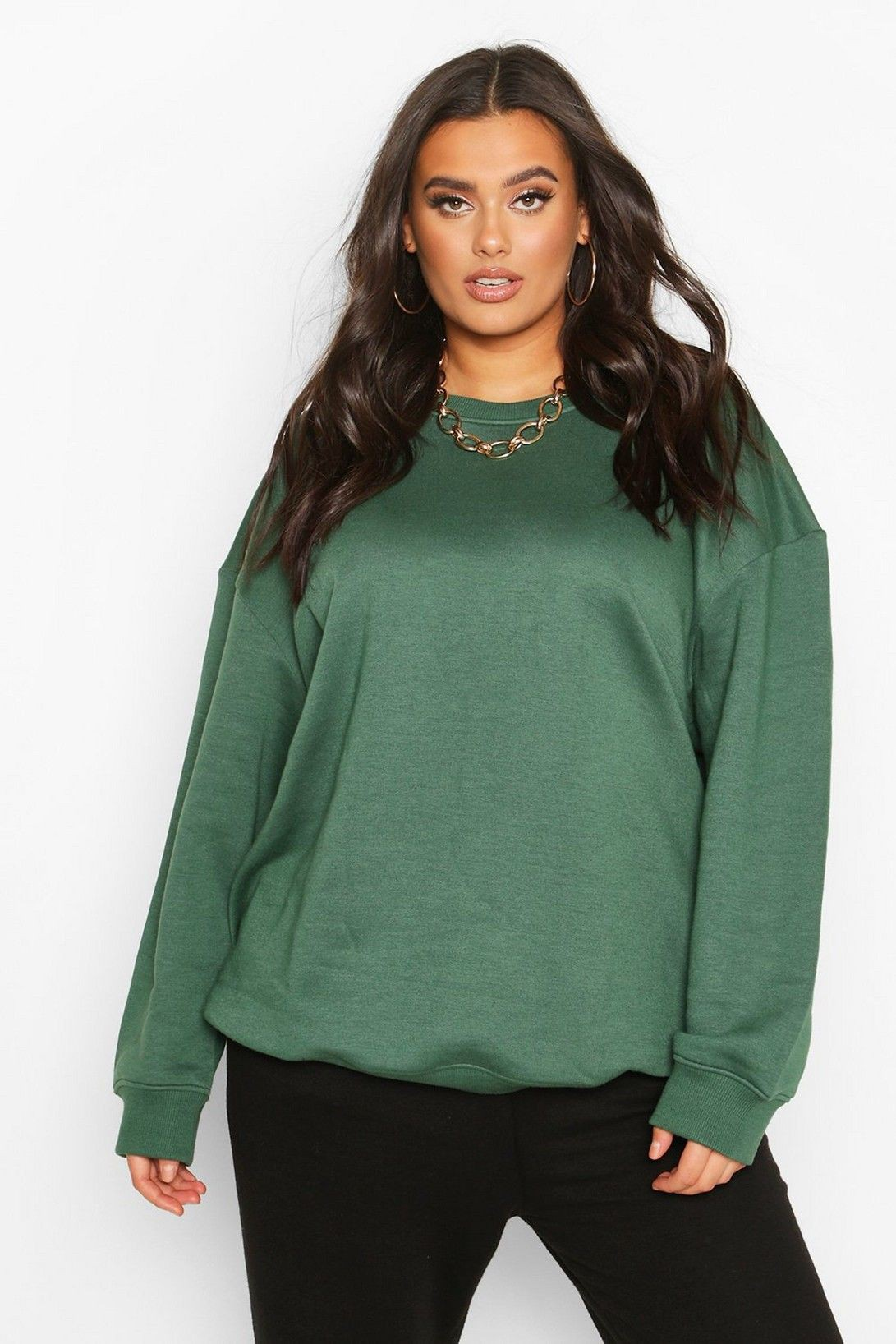 Green colour outfit, you must try with trousers, sweater, blouse