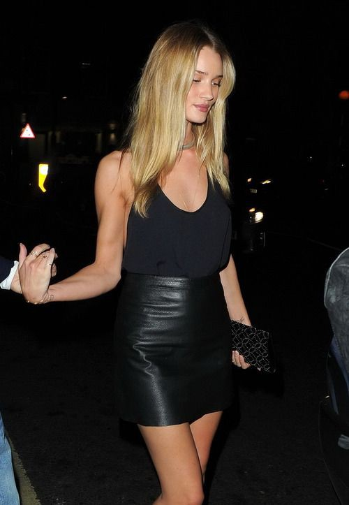 Night out leather skirt outfit