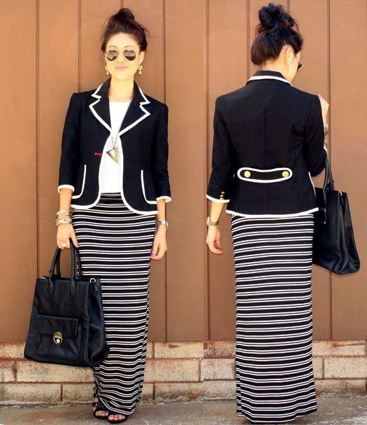 Clothing ideas with formal wear, maxi dress, uniform