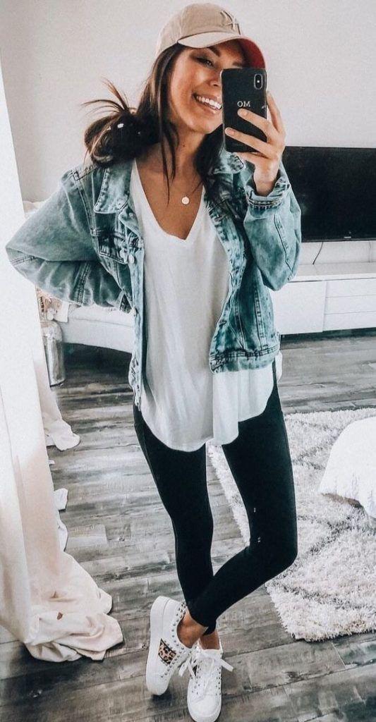 White outfit ideas with jean jacket, jacket, blazer
