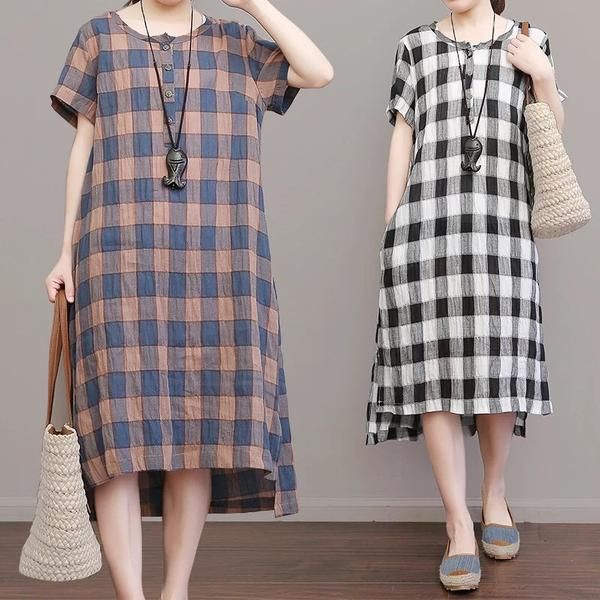Outfit style with maxi dress, day dress, cotton