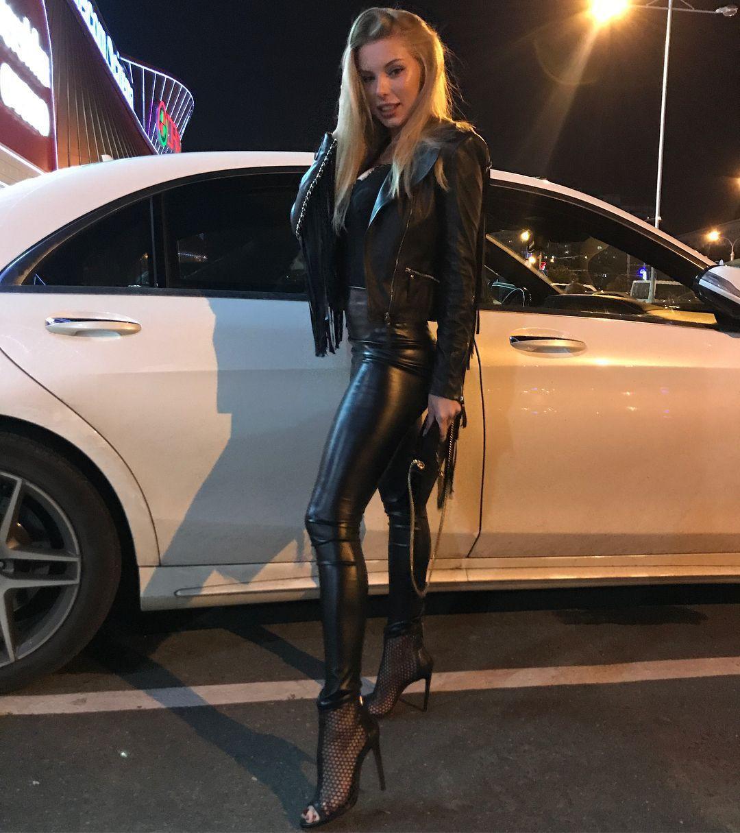 Attire ideas leather leggings girlfriend personal luxury car, mid size car