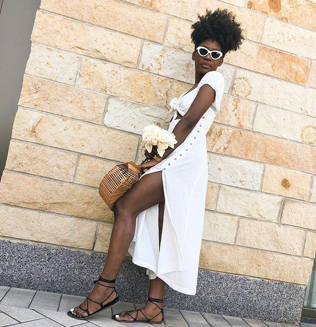 White colour outfit, you must try with trousers