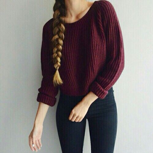 Colour outfit, you must try fashion girl autumn, winter clothing, casual wear, crop top