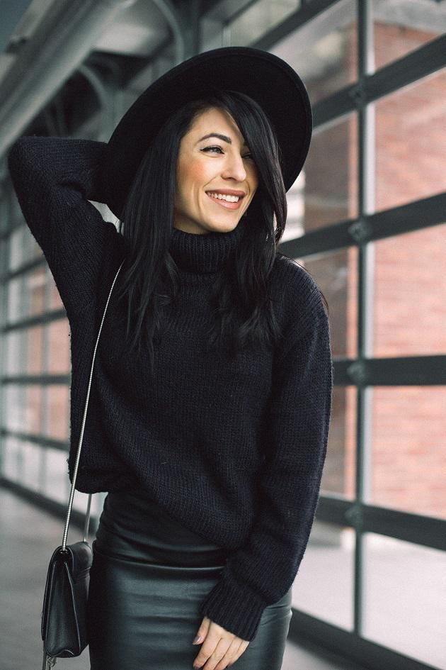 Black colour outfit, you must try with