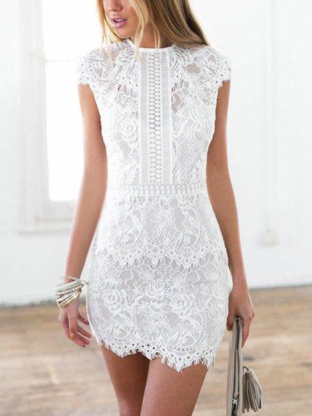 Nude lace graduation dress, cocktail dress, t shirt