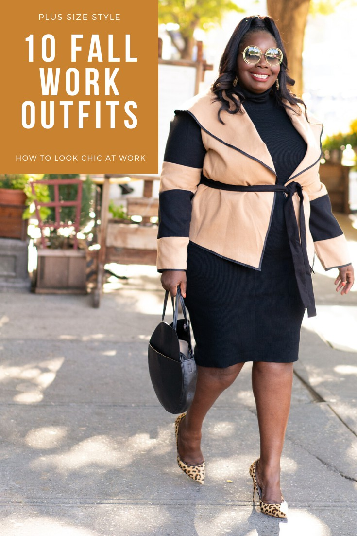 Yellow and black lookbook dress with leggings, workwear