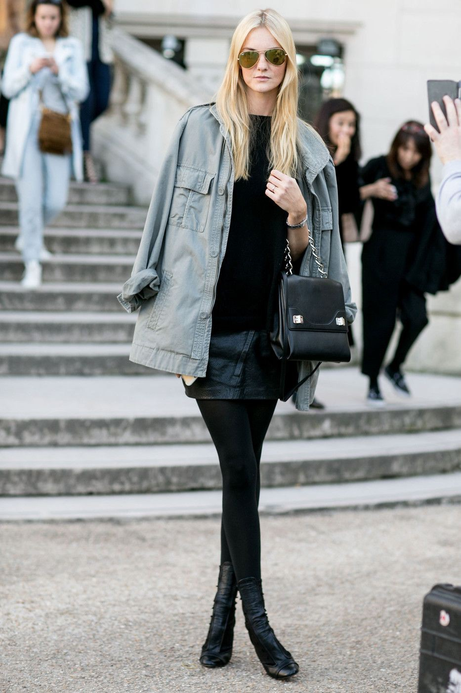 Caroline trentini street style paris fashion week, caroline trentini