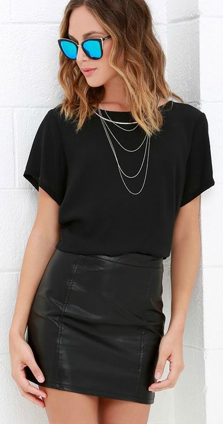 Outfit ideas leather skirt outfits, fashion accessory, leather skirt, pencil skirt, crop top, t  ...
