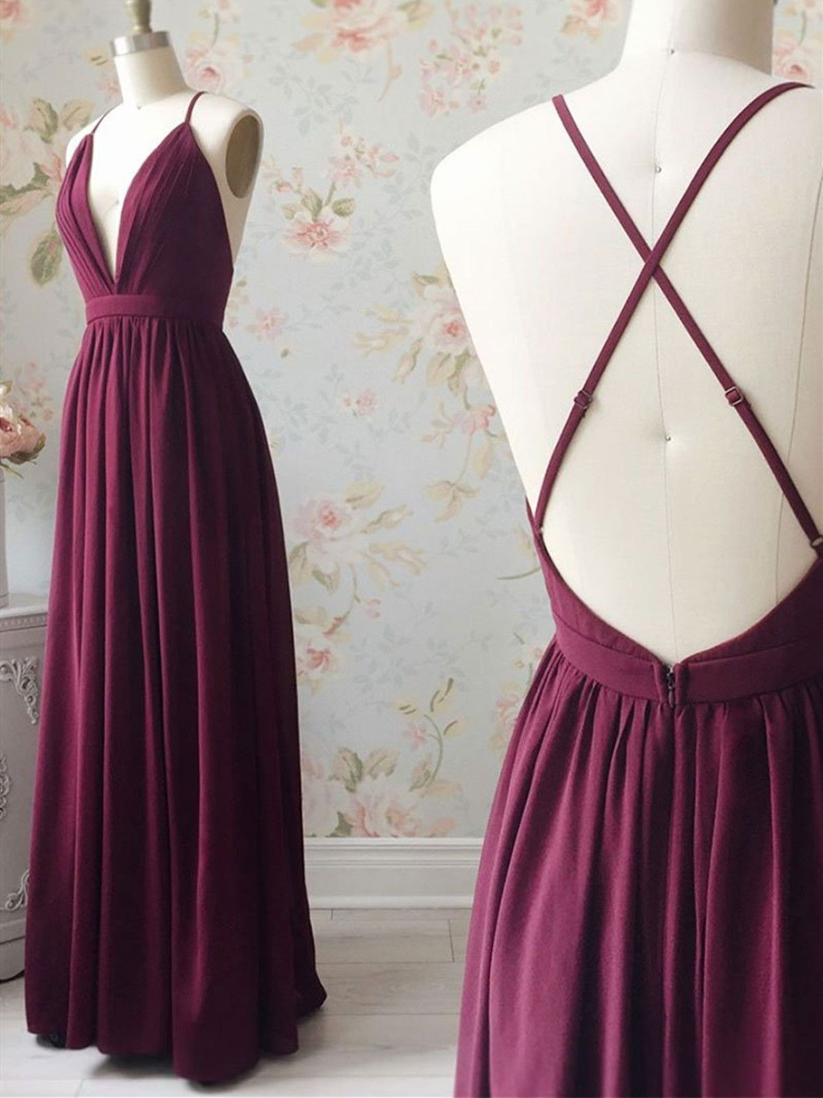 Purple outfit ideas with bridal party dress, bridesmaid dress, backless dress