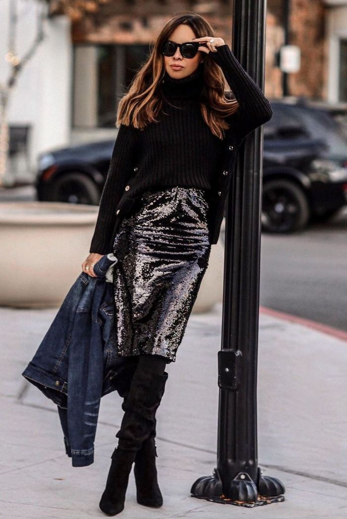 Fashion collection with dress trousers, sweater, jeans