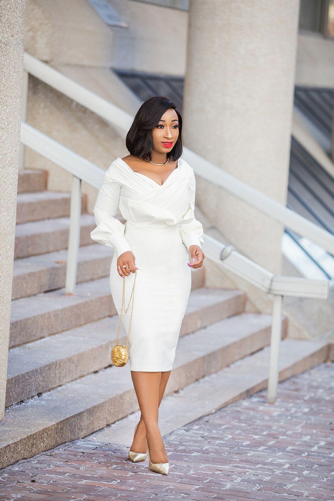 Colour combination classy dress styles, street fashion, bandage dress, african dress, wedding dr ...