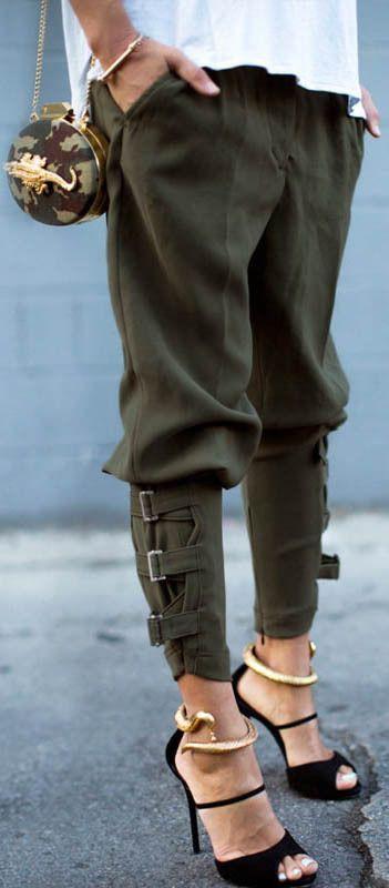 Harem pants and heels