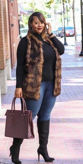 Brown colour outfit, you must try with fur clothing, leggings, sweater