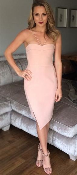 White and pink strapless dress, cocktail dress