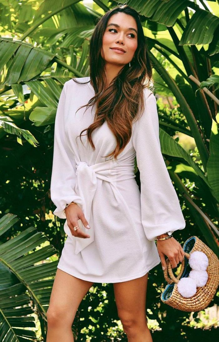 White outfit instagram with interior design services, hair art & beauty