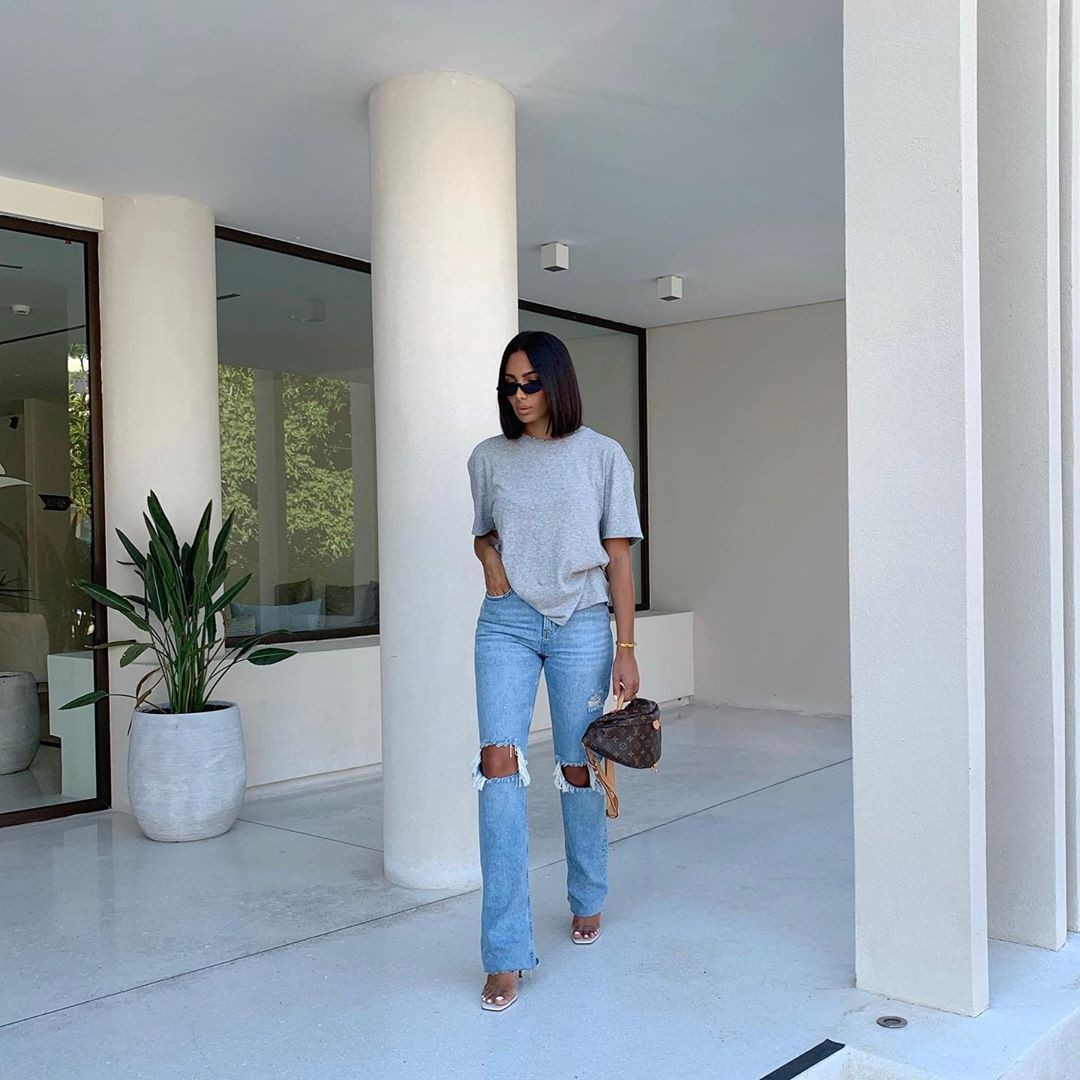 white outfits for girls with denim, jeans, shoe