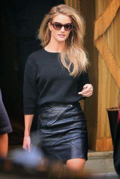 Rosie huntington leather skirt rosie huntington whiteley, cocktail dress