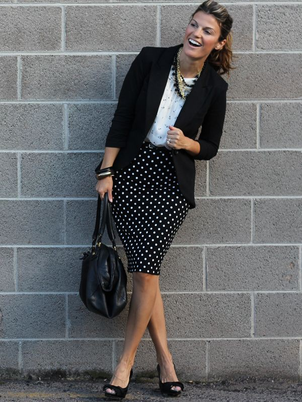 Pencil skirt outfits for work