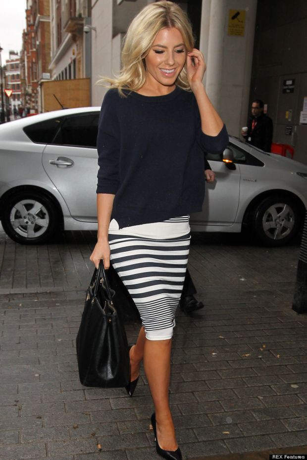Pencil skirt with oversized top