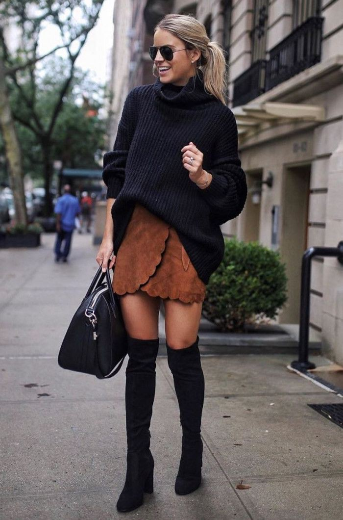 Black outfit ideas with fashion accessory, skirt
