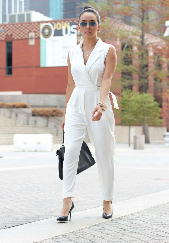 Colour outfit ideas 2020 enterizo blanco elegante, street fashion, fashion model